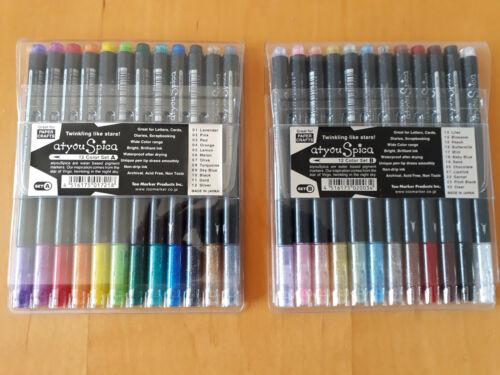 Copic Atyou Spica Glitter Markers Sets A /& B