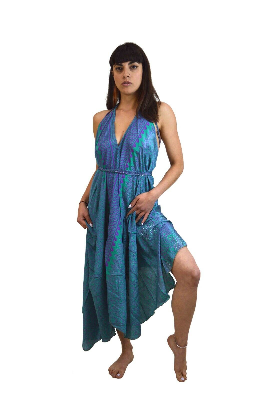 BOHO GYPSY DRESS Gypsy dress long beach dress Asymmetric dress FREE POST to UK