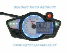 KOSO RX1N+ Digital Speedometer Speedo Dash Gauge RPM Light Motorcycle Kit Car Wh