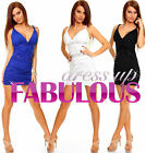 SEXY MINI DRESS PARTY EVENING TRENDY CLOTHES FOR CLUBBING Size 4 6 8 10 12 S M L