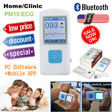 Us Fda Portable Ecgekg Machine Record Heart Rate Monitorpc Software Bluetooth