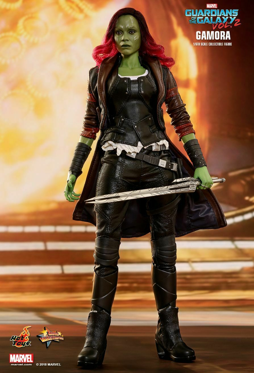 Hot Toys Guardianes de la Galaxia vol. vol. vol. 2 Gamora escala 1 6 figura MMS483  respuestas rápidas