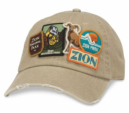 Zion National Park Iconic Distressed Slouch Adjustable Hat