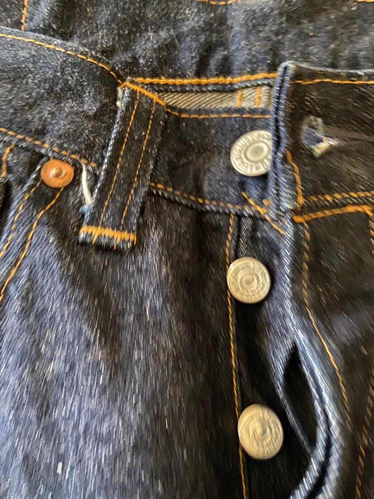 Vintage LEVIS 501 Big E Jeans Selvedge Redline Bu… - image 4