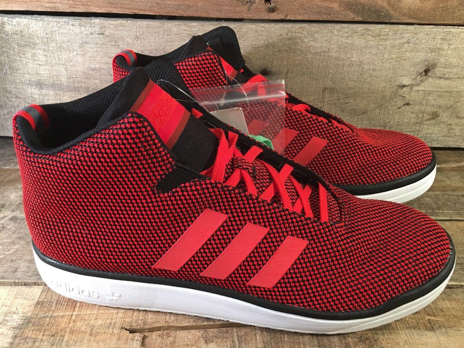Adidas Veritas Mid Herren Show Größe 11.5 Rot Schwarz B24559