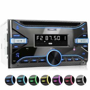 Autoradio mit RDS CD Bluetooth Freisprech-Einrichtung 2xUsb Mp3 ID3-tag Aux 2din