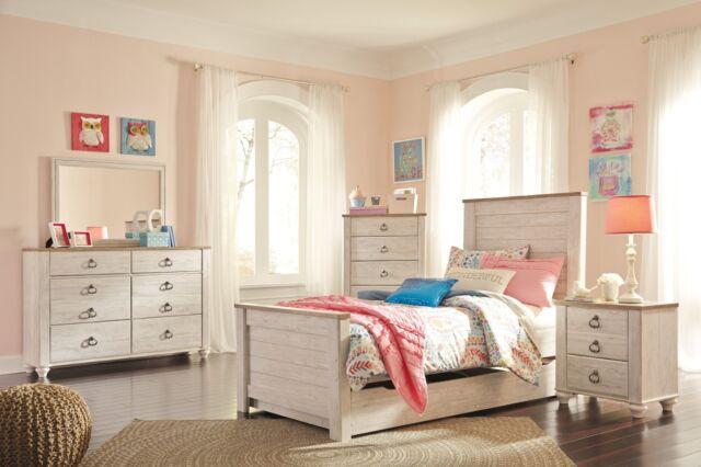 Ashley Furniture Jaysom Twin Vintage Panel Youth Bed Set B521 For