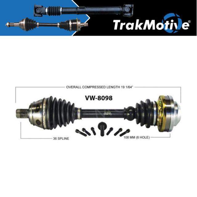 For Audi TT Quattro 00-02 Front Passenger Right CV Axle Shaft SurTrack AD-8090