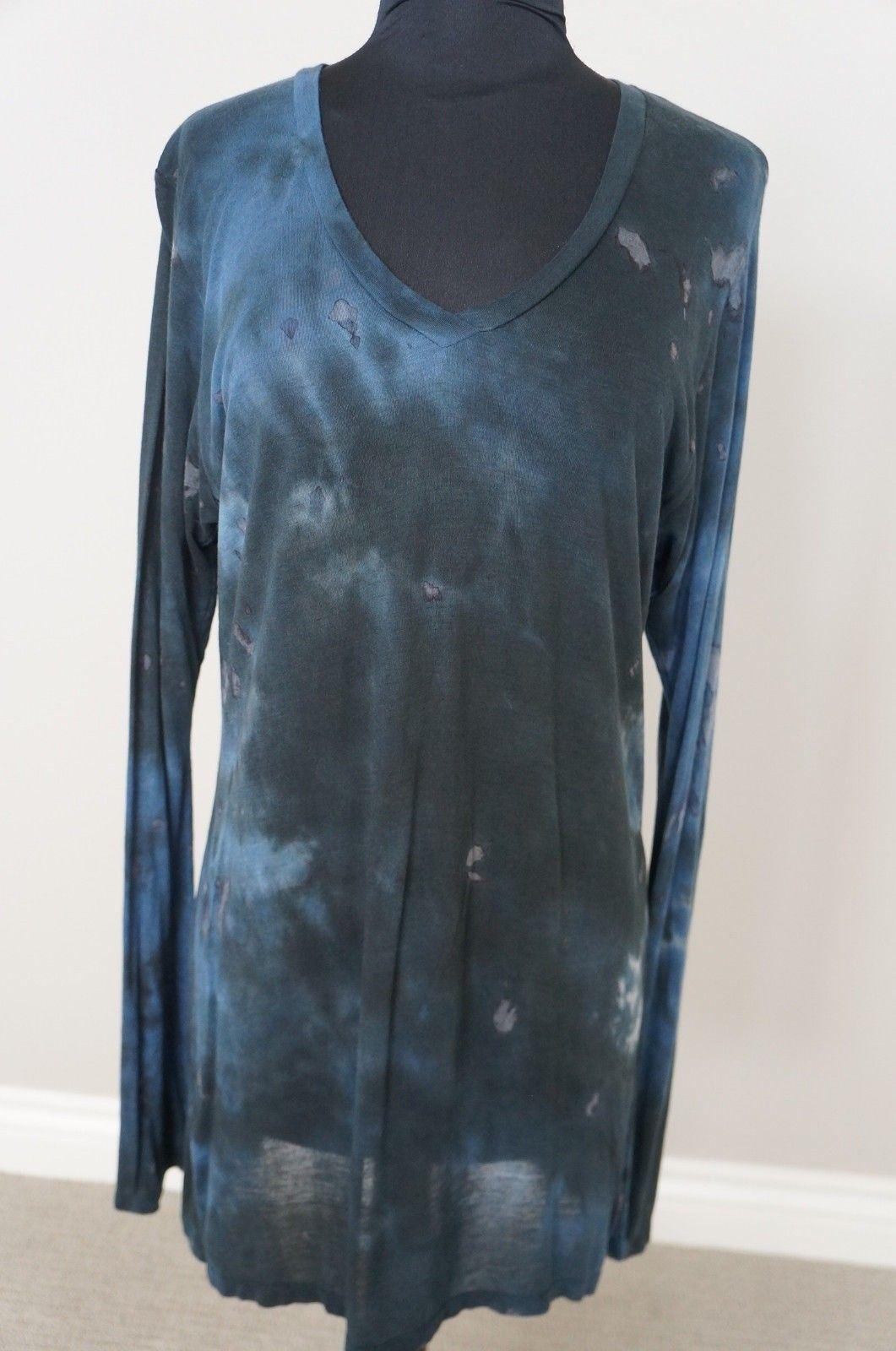 NEW Johnny Was Pete&Greta Long Sleeve Tie Dye Modal Tee Tunic Top Blouse Dress S