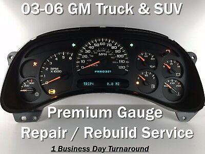 Chevy GM GMC Instrument Cluster 03 04 05 06 07 Silverado Tahoe Sierra /& more