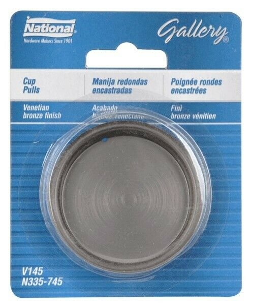 National Hardware N335-745 V145 Cup Pull  in Antique Bronze