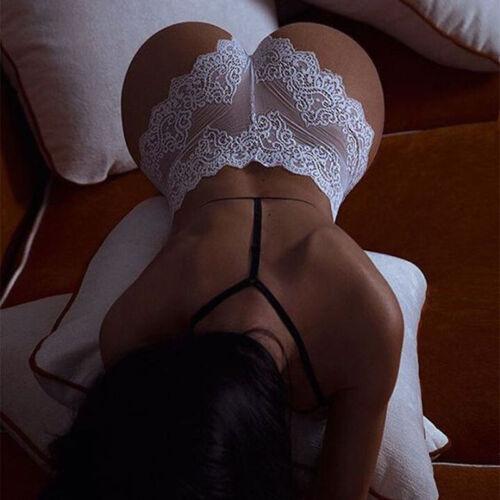 Damen Spitze High-Waist G-String Durchschauen Unterhose SlipsDessous Unterwäsche