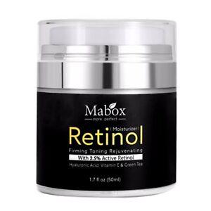 Mabox-50ml-Retinol-2-5-Moisturizer-Face-Cream-Hyaluronic-Acid-AntiAging-Remov-U7