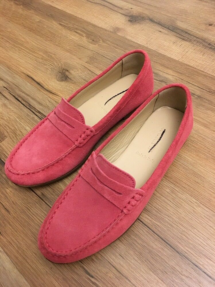 New J Crew James Suede Loafers  SOFT FUCHSIA  Sz 7 G0887