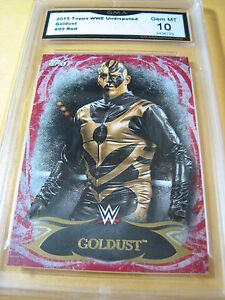 GOLDUST 2015 TOPPS WWE UNDISPUTED RED # 99 GRADED 10 L@@@K