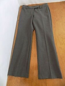 Talbot's Petites Women's Dress Career slacks pants Sz 6P Straight Leg Gray