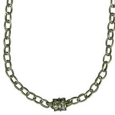 KIRKS FOLLY Oval Link Chain Magnetic Interchangeable Necklace Brasstone NEW
