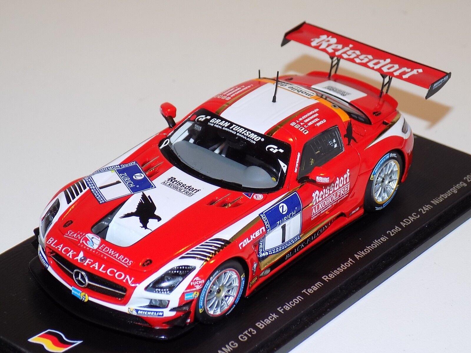 1/43 Spark Mercedes Benz SLS AMG GT3 coche 1 Horas de Nurburgring 2018 SG129
