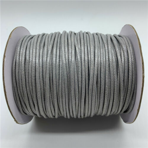5yards 2mm Waxed Cotton Cord Waxed Thread Cord String Strap Necklace Rope