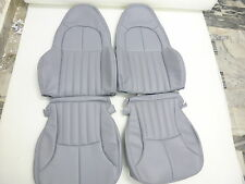 1997-2004 C5 Corvette Synthetic Leather Medium Grey‏ Standard Seat Covers