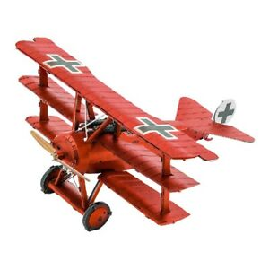 Tri-Wing-Fokker-Red-Baron-3D-Metal-Kit-Original-Metal-Earth-1210