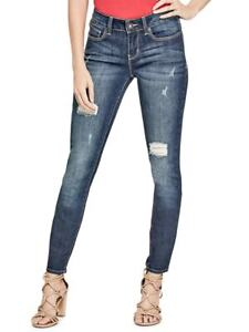 GUESS-Factory-Women-039-s-Sienna-Distressed-Curvy-Skinny-Jeans