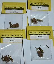 """Model Ship Accessories Fittings Carronade Brass Wood Carriage 5/8"""" 16mm Lot of 4"""
