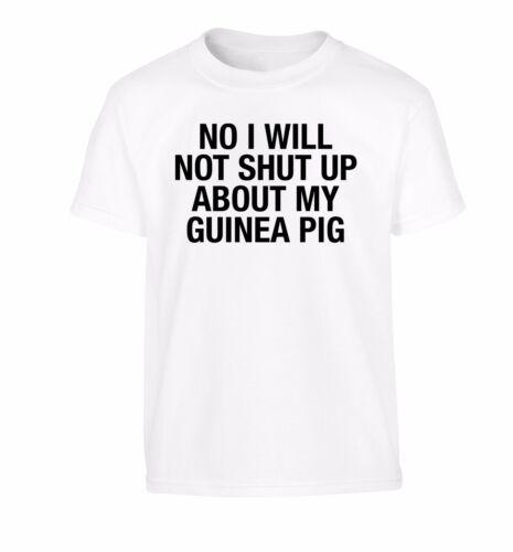 non smetterà su il mio porcellino d/'India KID/'S T-shirt degli Animali Pet Love 3196 NO
