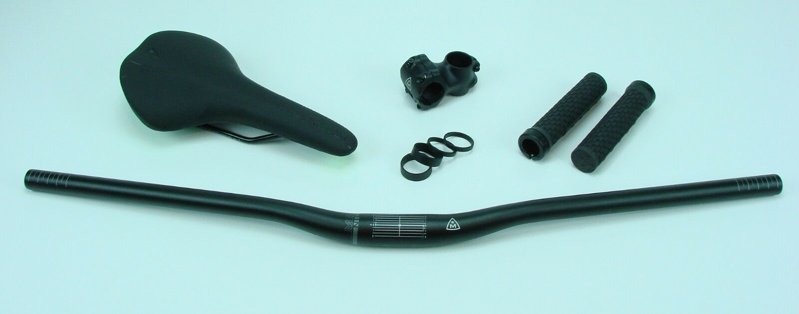 Marin Handlebar, Stem, Headset spacers, Grips and Saddle