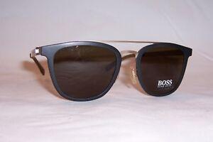 NEW HUGO BOSS Sunglasses 0838 S 72Y-EC BLACK GOLD BROWN AUTHENTIC ... fed89db94e