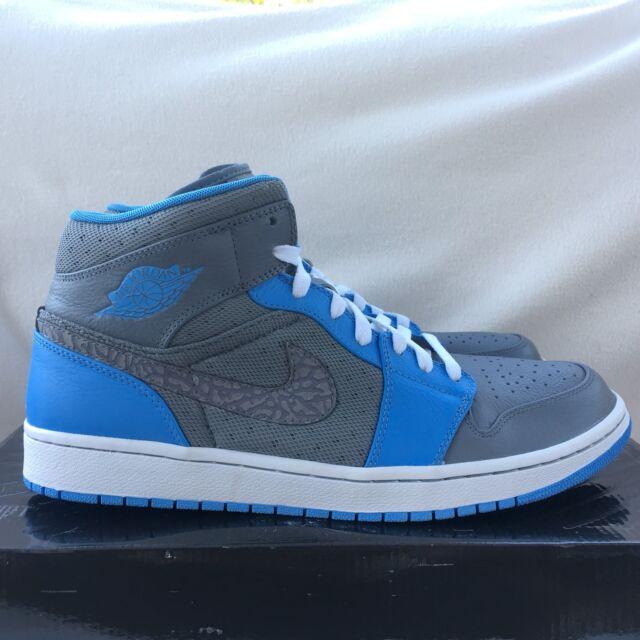 24737b2ee6415d Nike Air Jordan 1 Phat Cool Grey university Blue Trainers Size 11 UK Mens  for sale online