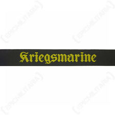 Kriegsmarine Cap Tally - Type 2 WW2 Repro German Navy Badge Patch Hat 40mm Naval