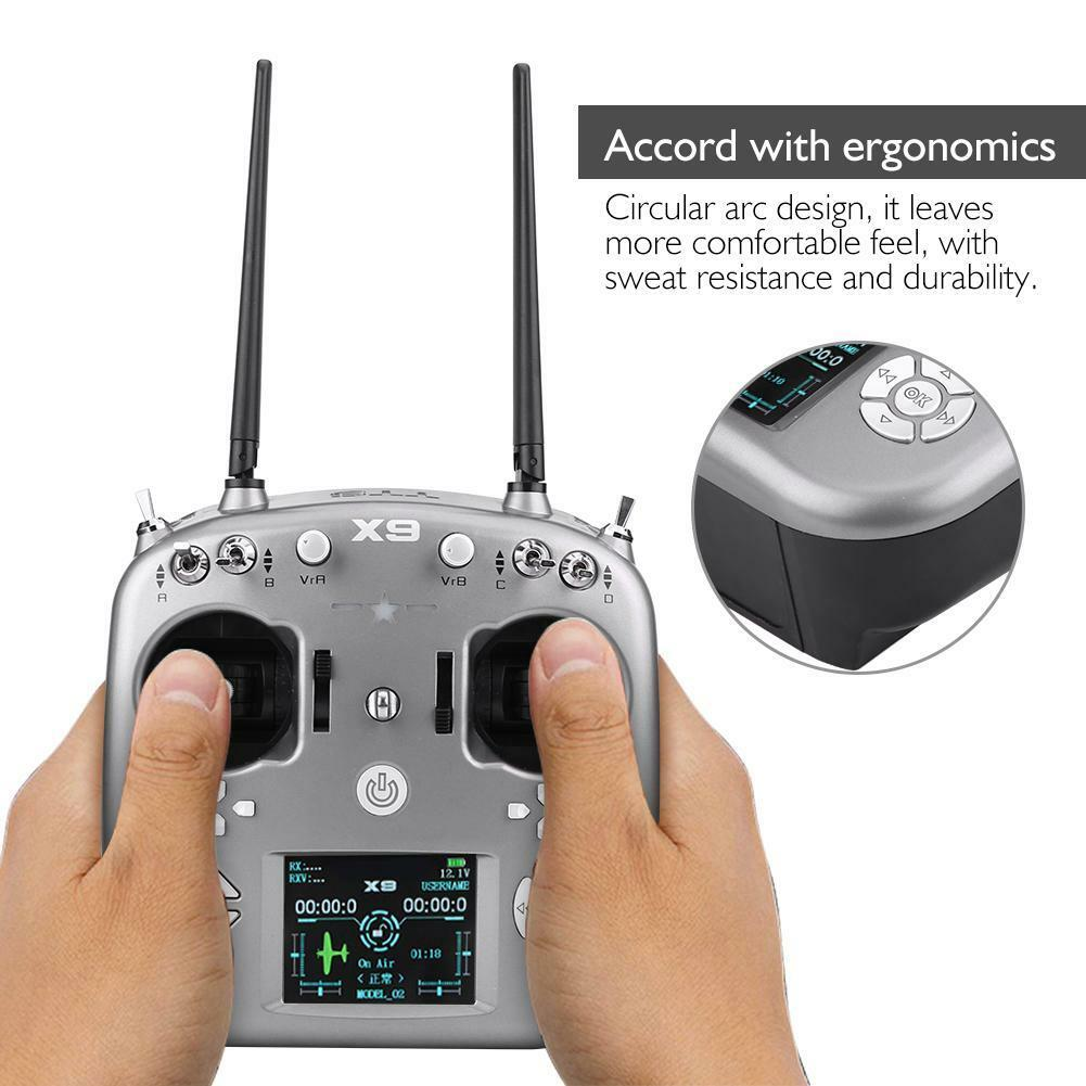 X9 9Channels Radio Transmitter AT-FHSS & X9D Receiver for RC Fixed-wing Airplane