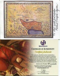 Robert-Temple-Ayres-Bonanza-TV-Map-Illustrator-Artist-Signed-Autograph-Photo-COA