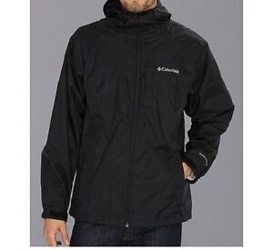 Columbia Sportswear Mens Straight Line Rain Jacket Coat Black M ...