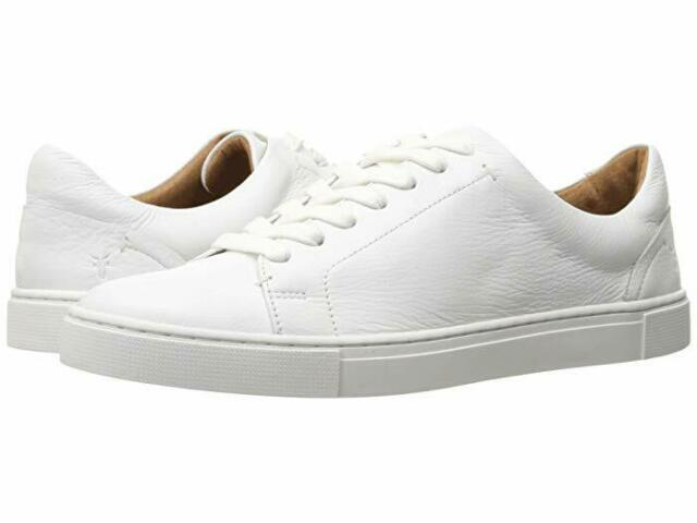 White Women's Leather Frye Ivy Sneakers Low Lace SUzVMp