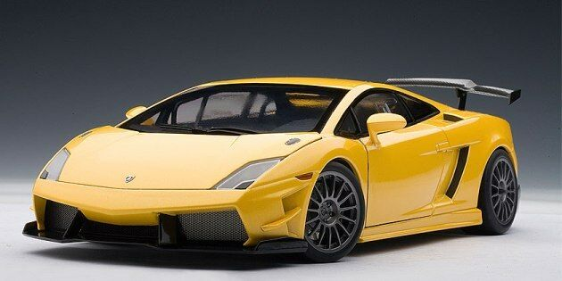 LAMBORGHINI GALLARDO LP560-4 SUPER TROFEO YELLOW Diecast by  AUTOart 74687