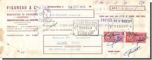 Letra de cambio- FG & Compañía Fábrica de zapatos - Montfaucon Sur Monje 1956