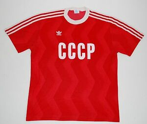 Image is loading 1980s-RUSSIA-CCCP-USSR-ADIDAS-HOME-FOOTBALL-SHIRT-