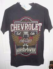 NEW GENUINE Chevy Chevrolet T shirt Hot Rod Shirt ~ HORSEPOWER~ Mens Small