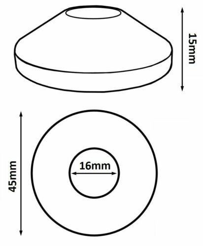 Collar Rosette Plastic Radiator Pipe Cover PVC White Rose 16mm