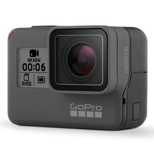 GoPro HERO6 Black Action Camera + 2 Battery Bundle 4K HD - Certified Refurbished