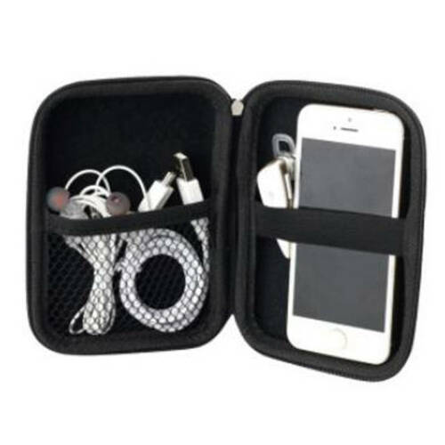 Hard Case Bags Headset Earphone Cable Carry Storage Box for Phone USB Cable