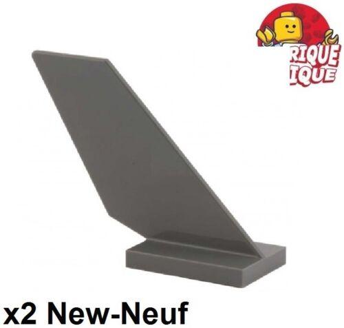 Lego 2x Tail fin aircraft vessel boat boat 4x1x3 grey f//d b gray 6239 NEW