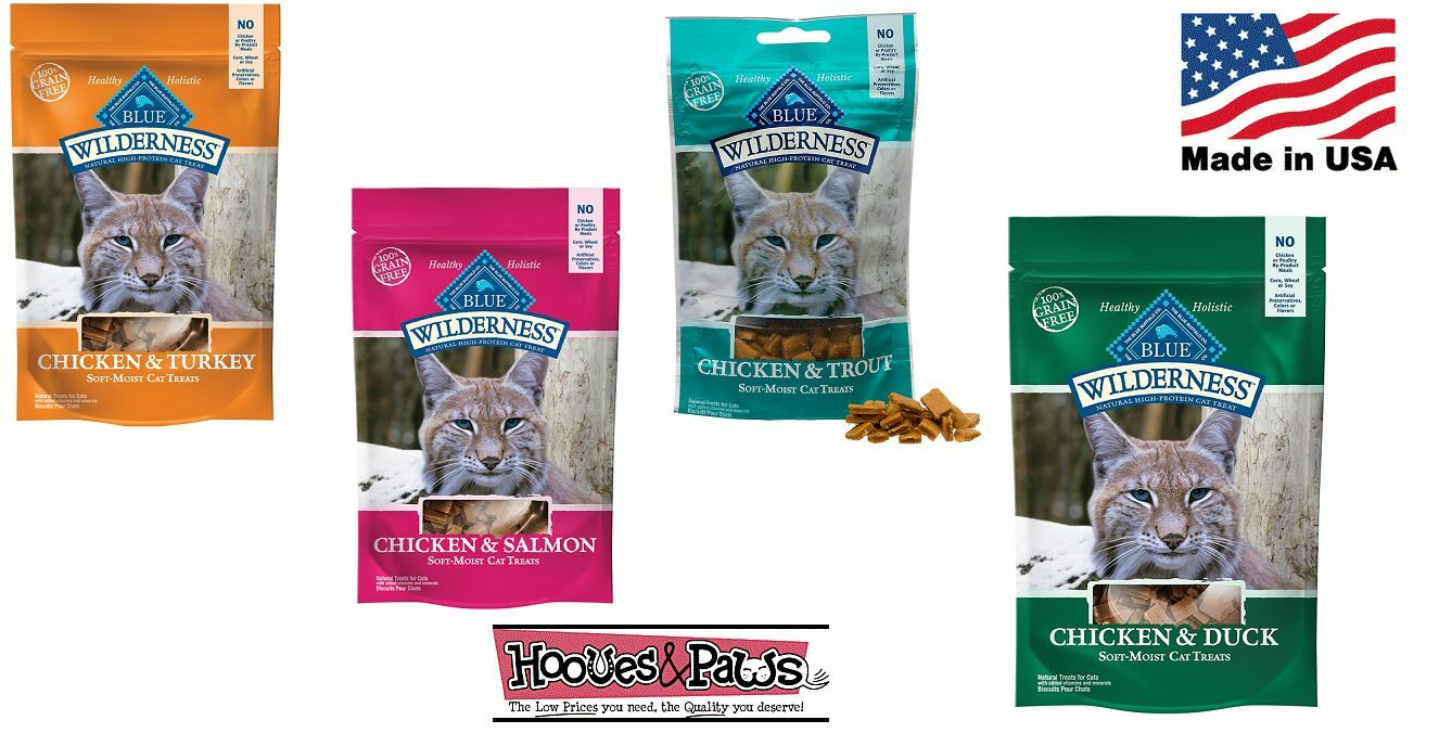 bluee Buffalo Wilderness Cat Treats Natural Healthy Grain Free MADE IN USA Flavor
