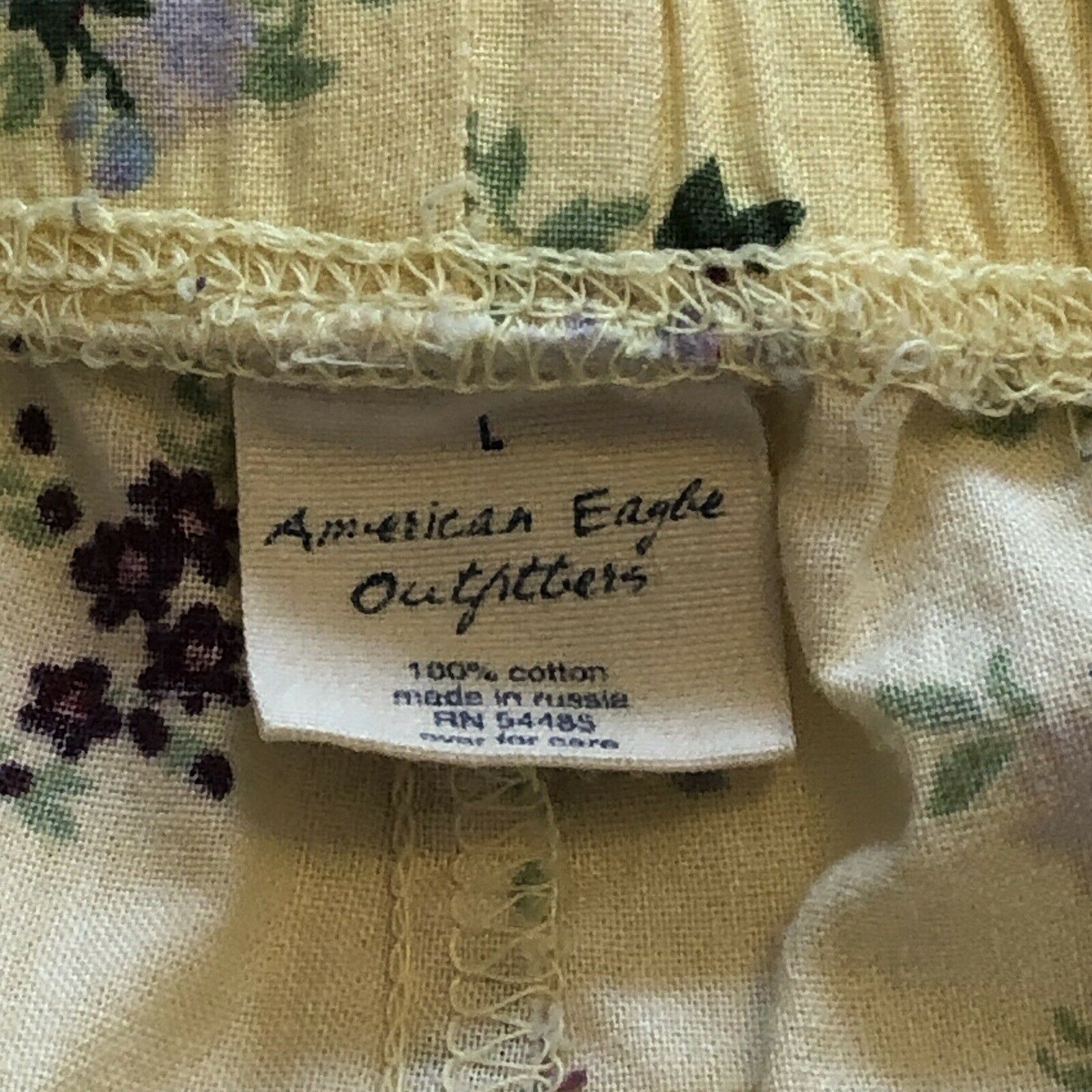 Vintage American Eagle Outfitters Lounge Yellow F… - image 5