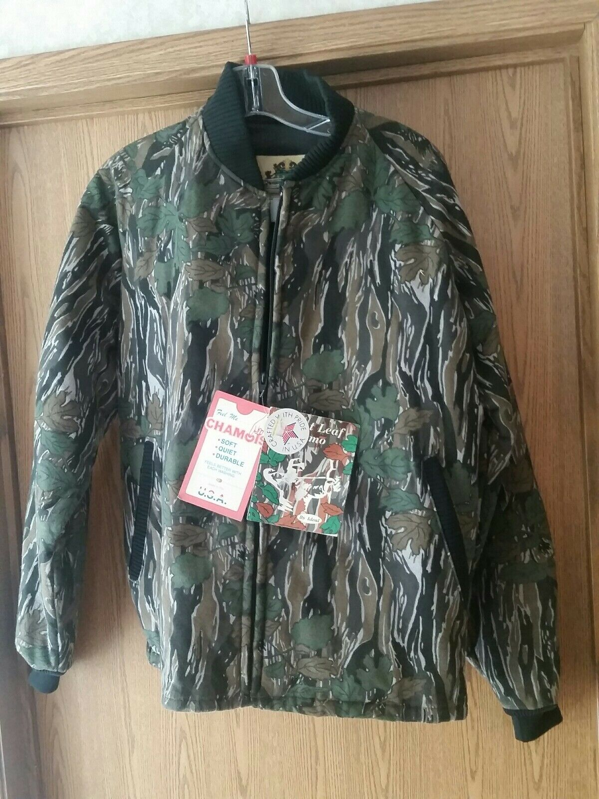 Vintage Ideal Silent Leaf Chamois 38-40 Camouflage coat. Medium. NWT USA made