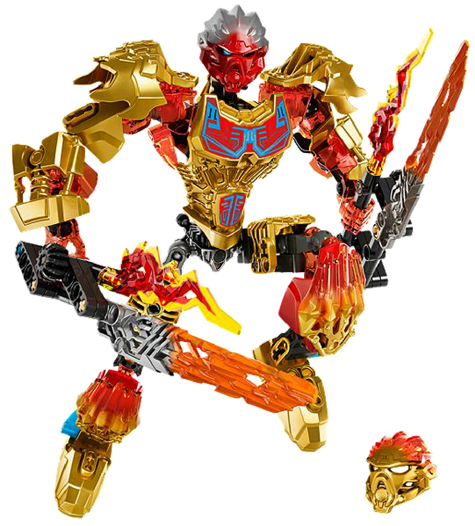 USED LEGO Bionicle Tahu Uniter of Fire (71308), no scatola  e instructions  marchio famoso