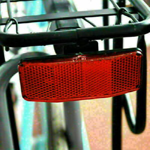 Bicycle MTB Bike Safety Red Warning Reflector For Disc V1X5 Rear Carrier-Pa U2U0