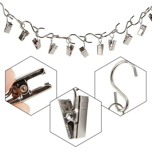 Curtain Hanging Clips With Clamp Hooks Pack Of 30 Art Crafts Photos Hangers